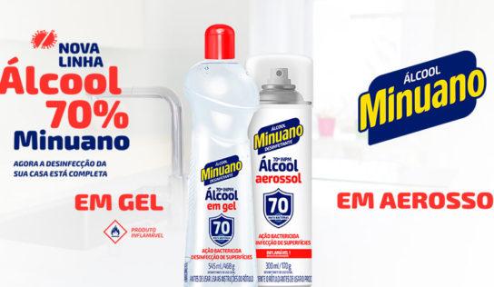 Minuano lança álcool em gel e em aerossol 70%
